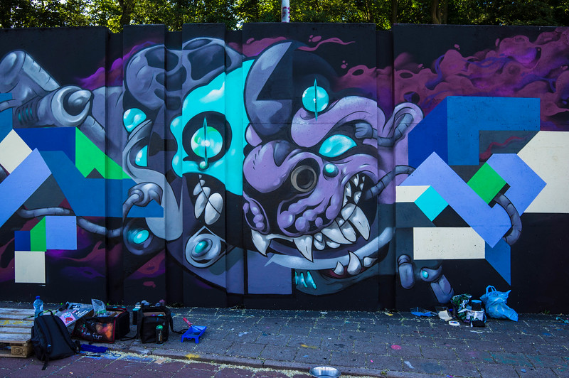 Street art at Step in the Arena 2015 in Eindhoven, Netherlands