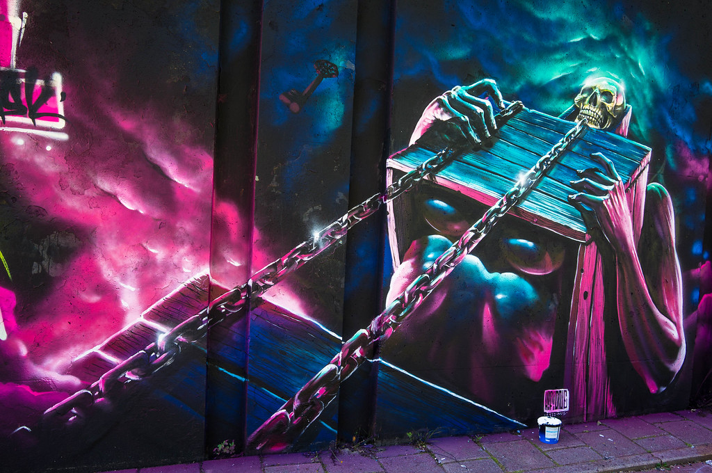 Mural by HiFi at Step in the Arena 2015 in Eindhoven, Netherlands