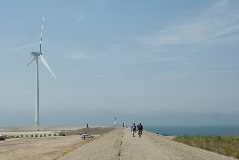 Windmills for flood control in Netherlands