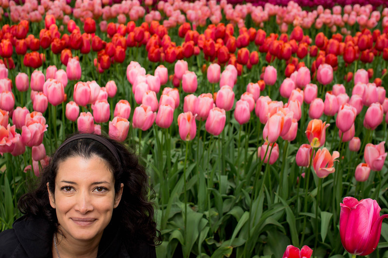 Me & tulips at the Keukenhof 2014 in the Netherlands