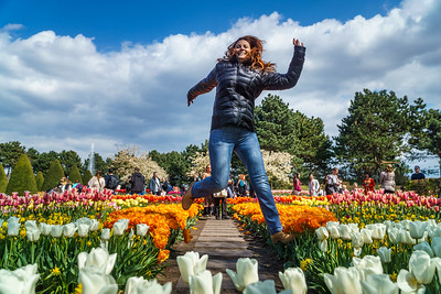 Having fun at marvelous Keukenhof.