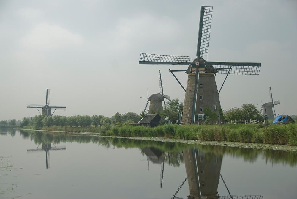 The windmills of Kinderdijk, Netherlands