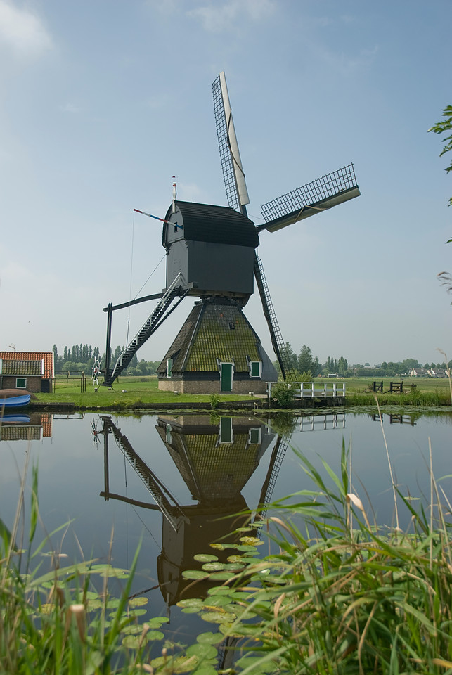 18th century windmill in Kinderdijk, Netherlands