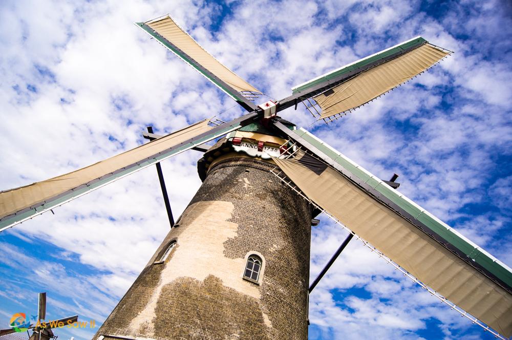 Windmill, Kinderdijk, The Netherlands.