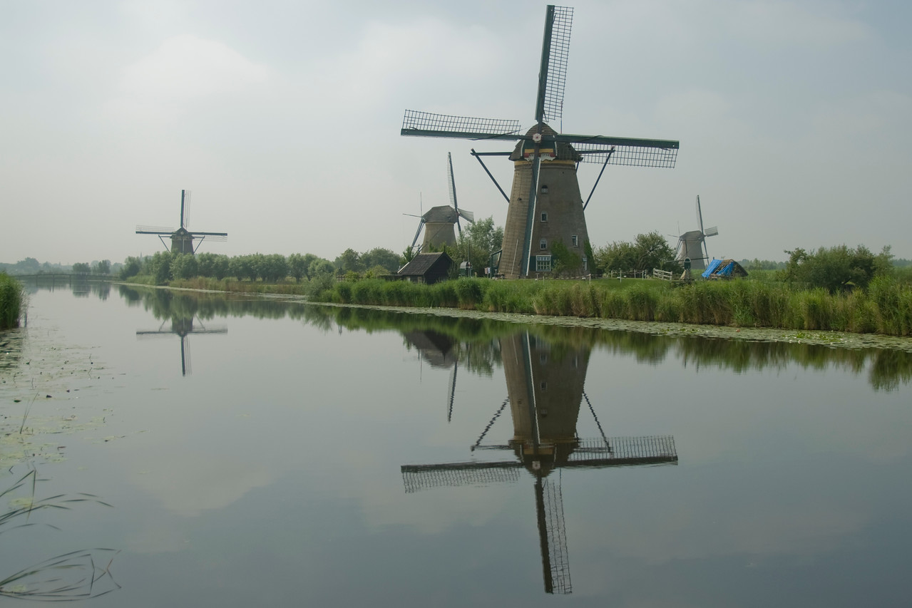 Some of the 19 windmills at Kinderdijk, Netherlands