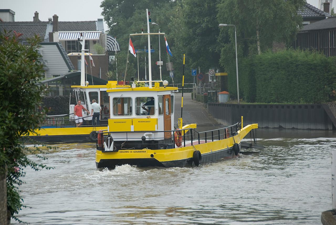 Boat at a harbour in Kinderdijk, Netherlands