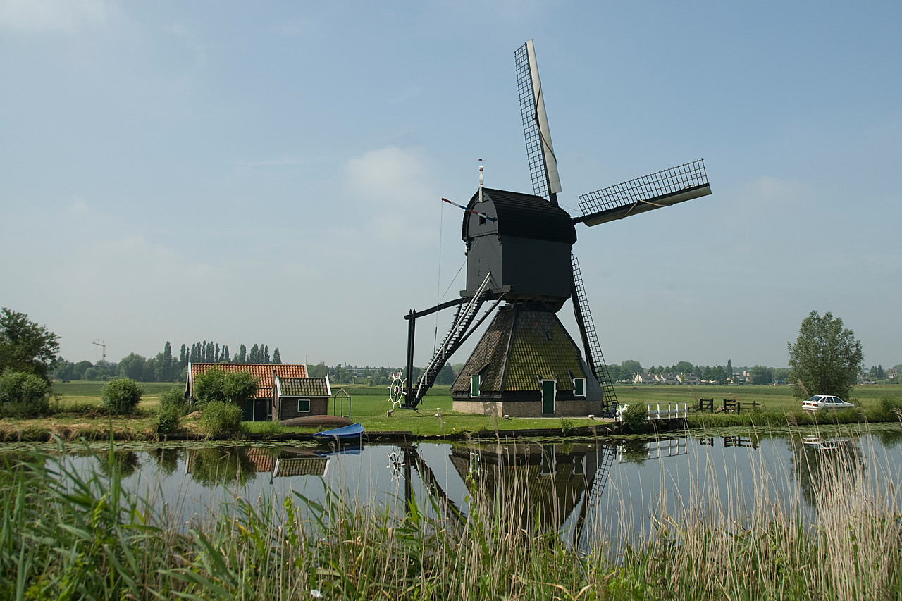 An 18th Century Windmill - Kinderdijk, Netherlands