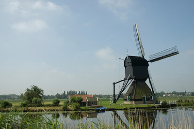An 18th century windmill in Kinderdijk, Netherlands