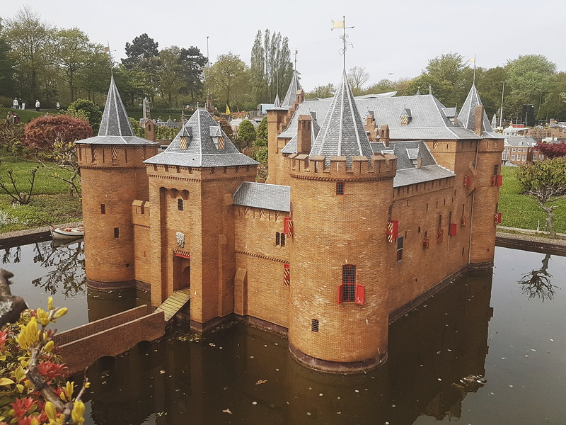 Muiden Castle in Madurodam in Den Haag, the Netherlands