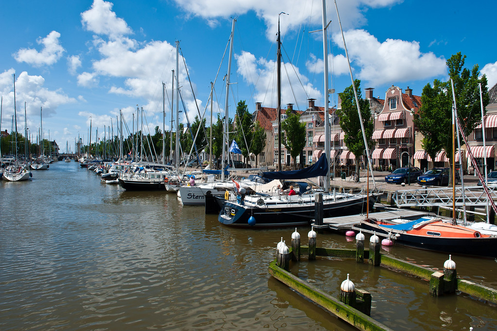 Harlingen Harbor, Friesland Netherlands