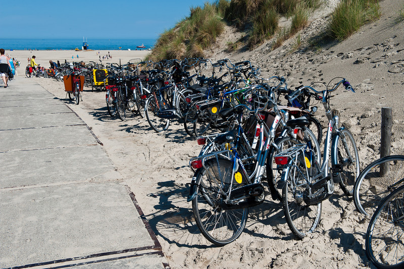 Bikes at the North Sea Beach