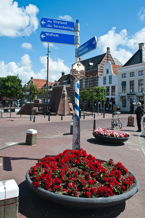 Harlingen Steet Sign - Pointing to the Ferry Dock