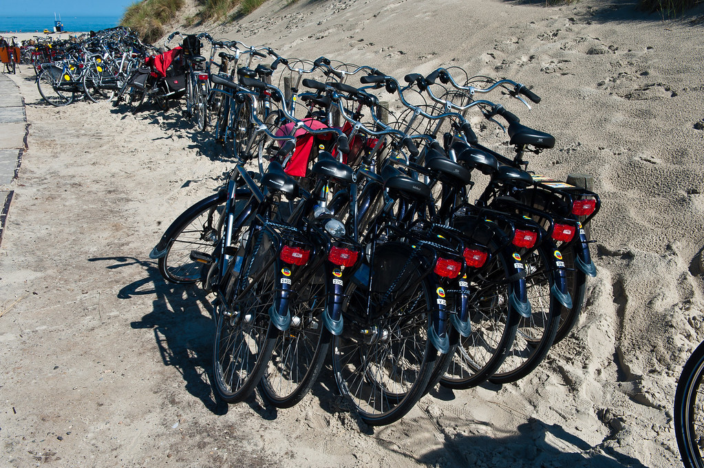 Bikes at the North Sea Beach