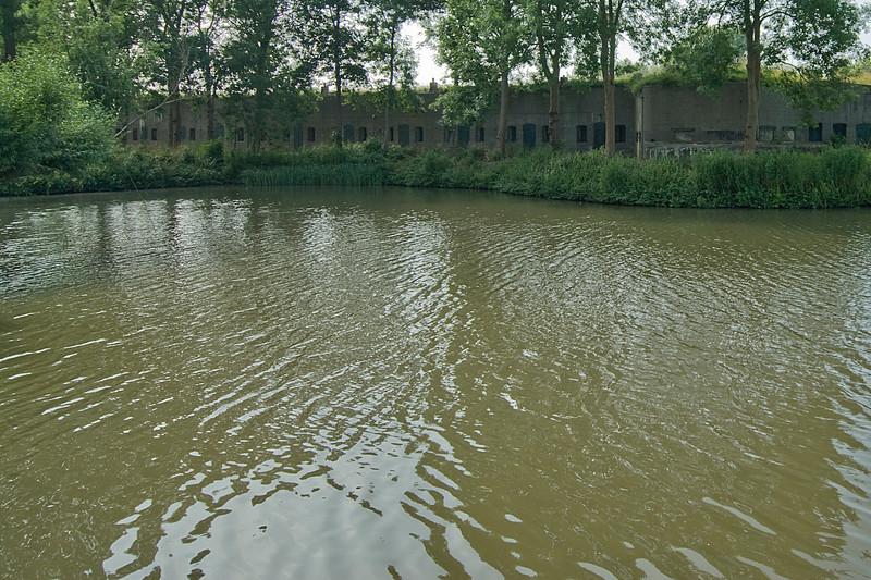 Murky river in Netherlands