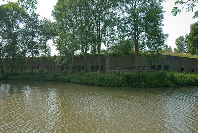 Abandoned structure near the river in Netherlands