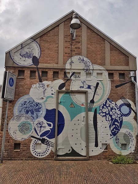 Mural by Maikki Rantala in Breda, the Netherlands