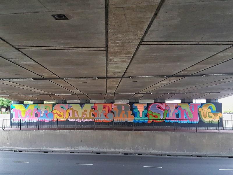 Mural by Ben Eine in Breda, the Netherlands