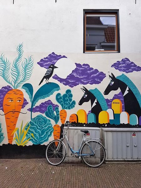 Mural by Laura Lehtinen in Breda, the Netherlands