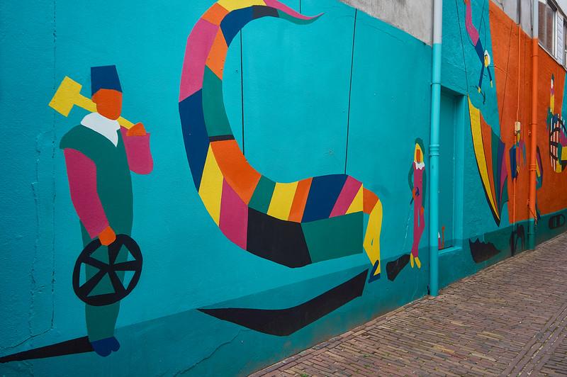 Mural by Studio Kratje Beeld in Breda, the Netherlands.