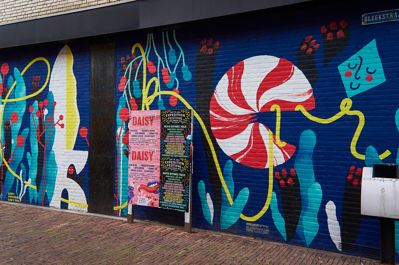 Mural by Ilona Partanen in Breda, the Netherlands.