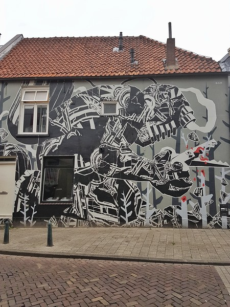 Mural by M-City in Breda, the Netherlands