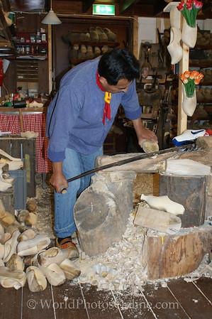 Volendam - Making wooden shoes