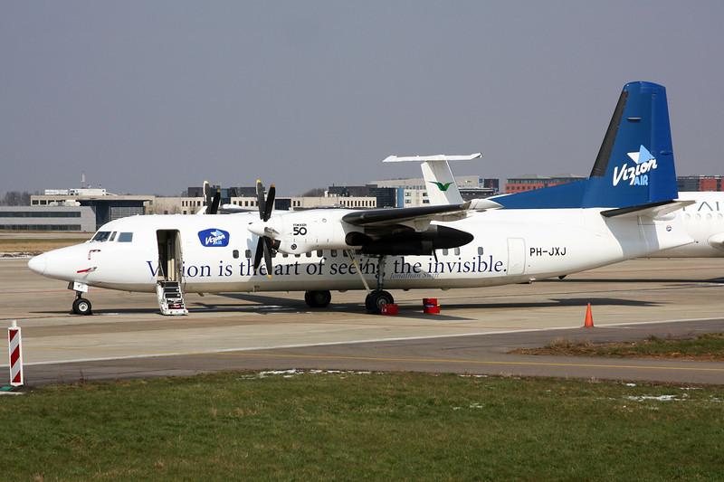 "PH-JXJ Fokker 50 ""Denim Air"" c/n 20232 Maastricht-Aachen/EHBK/MST 25-03-13 ""Vizion Air"""