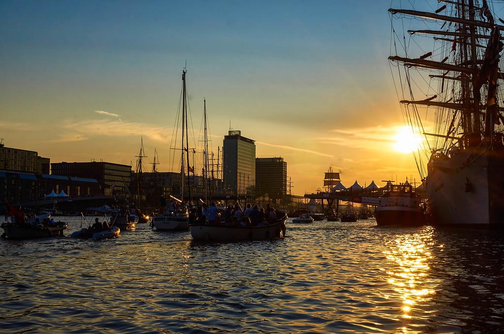 Sunset at SAIL Amsterdam 2015
