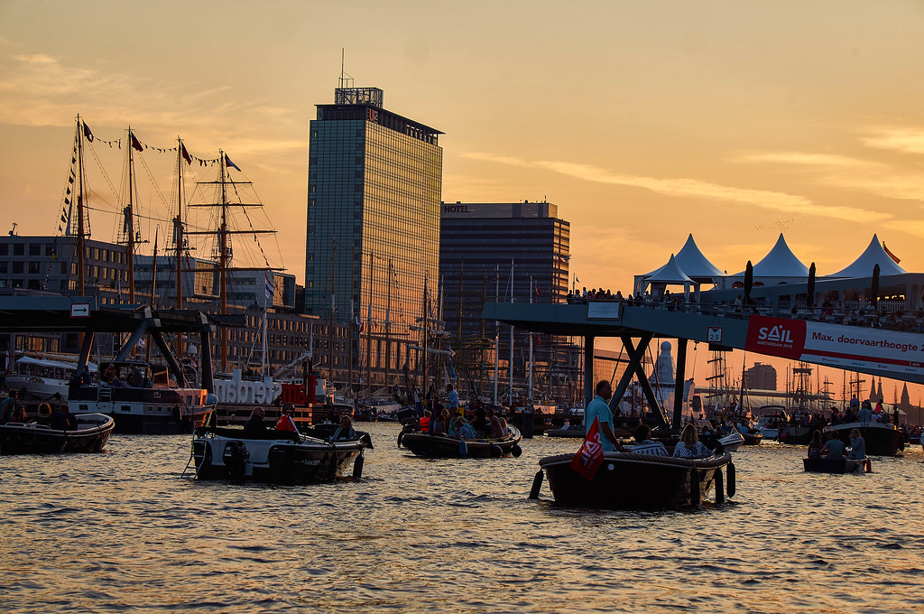 Sunset at SAIL Amsterdam 2015