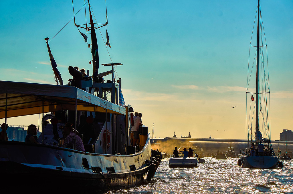 Boats in SAIL Amsterdam 2015