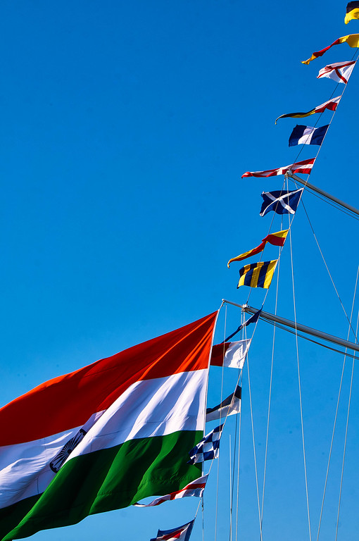 Flags at SAIL Amsterdam 2015