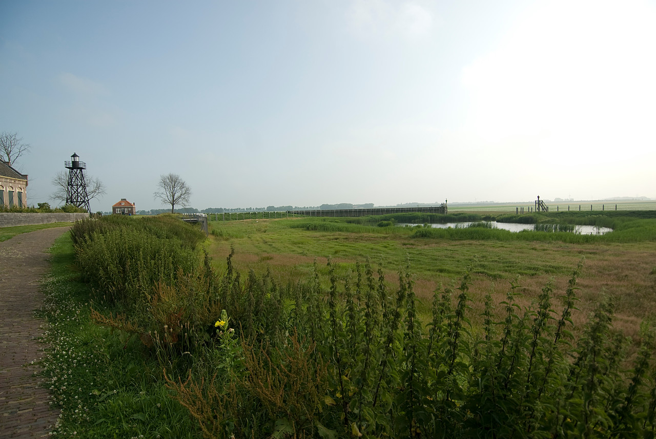 Expansive view of a farm in Schokland, Netherlands