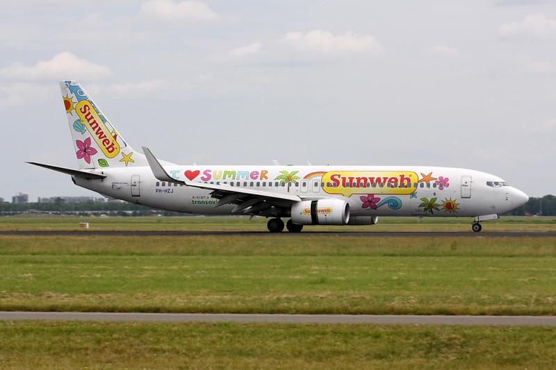 "PH-HZJ Boeing 737-8K2 c/n 30389 Amsterdam/EHAM/AMS 21-06-14 ""Sunweb"""
