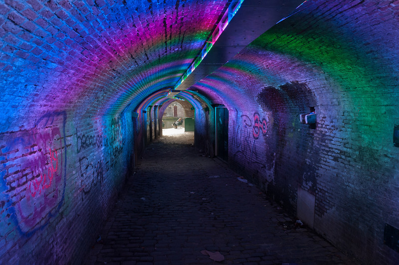 Ganzenmarkt Tunnel in Utrecht, Netherlands