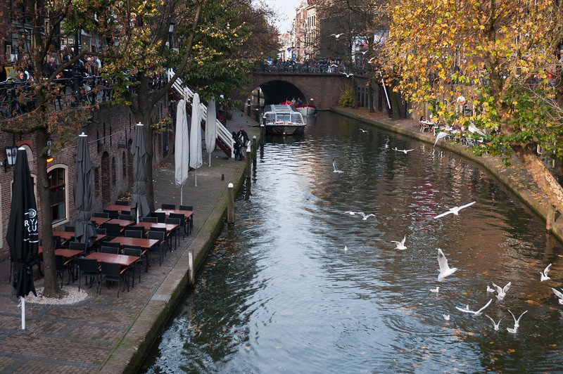 View of the Oudegracht at day - Utrecht, Netherlands