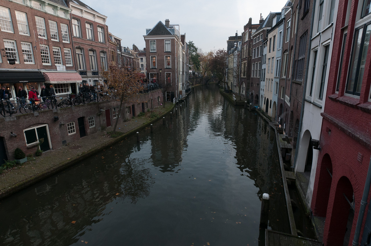 View of the canal in Utrecht, Netherlands