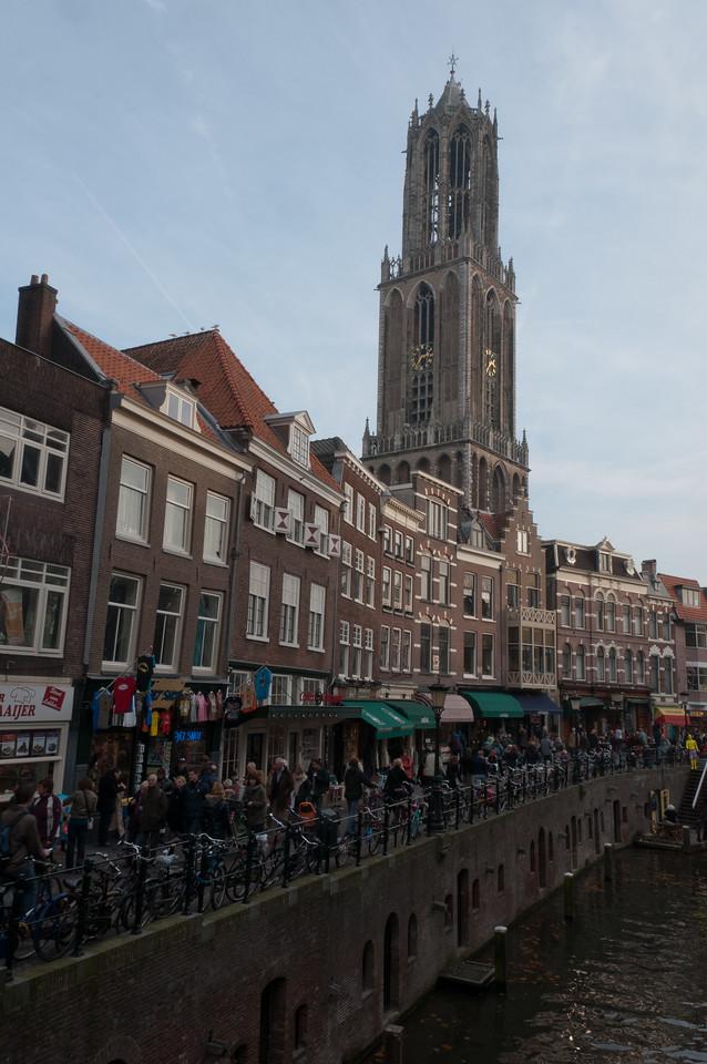 Dom Tower of Utrecht overlooking the skyline - Utrecht, Netherlands