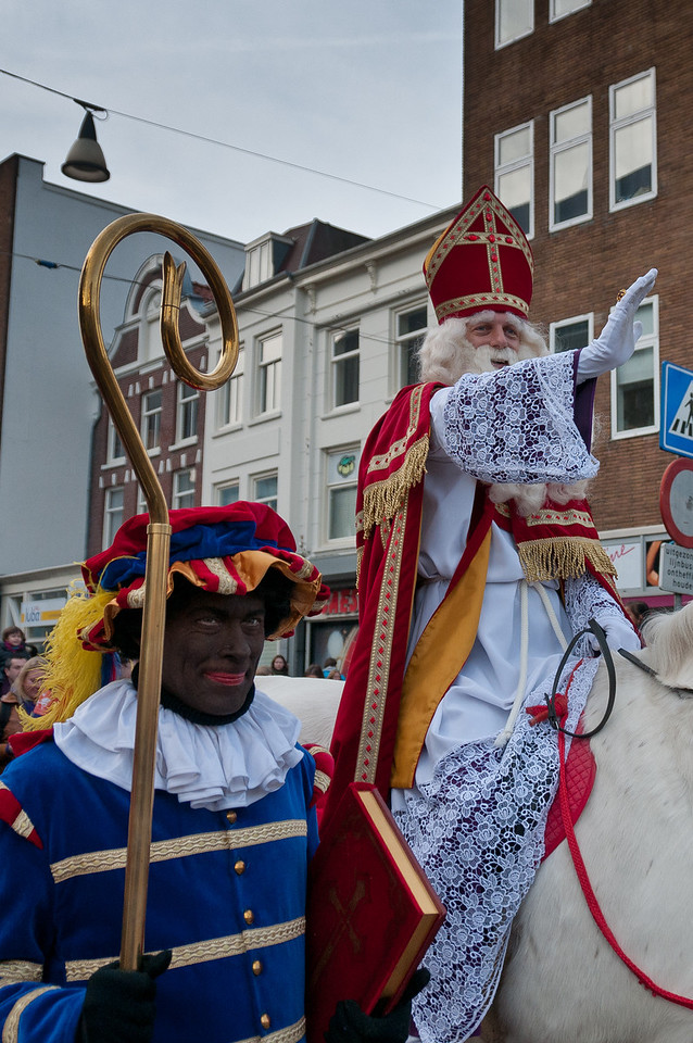 People on costumes on parade in Utrecht, Netherlands