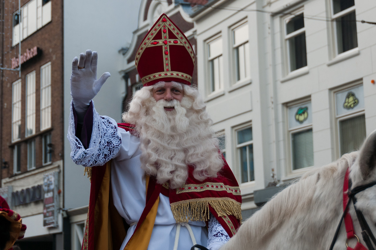 Man in costume at parade in Utrecht, Netherlands