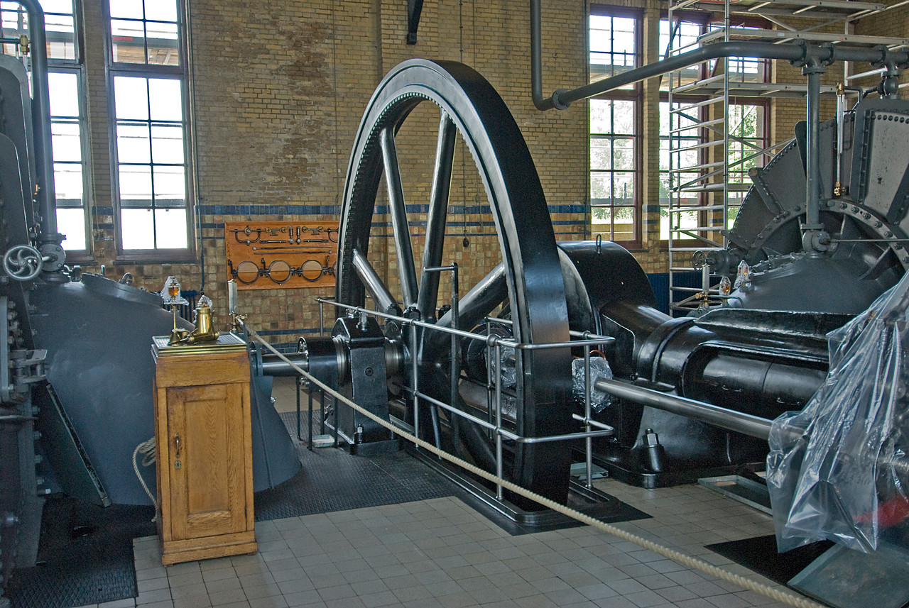 Hydraulics inside the Wouda Pumping Station in Netherlands