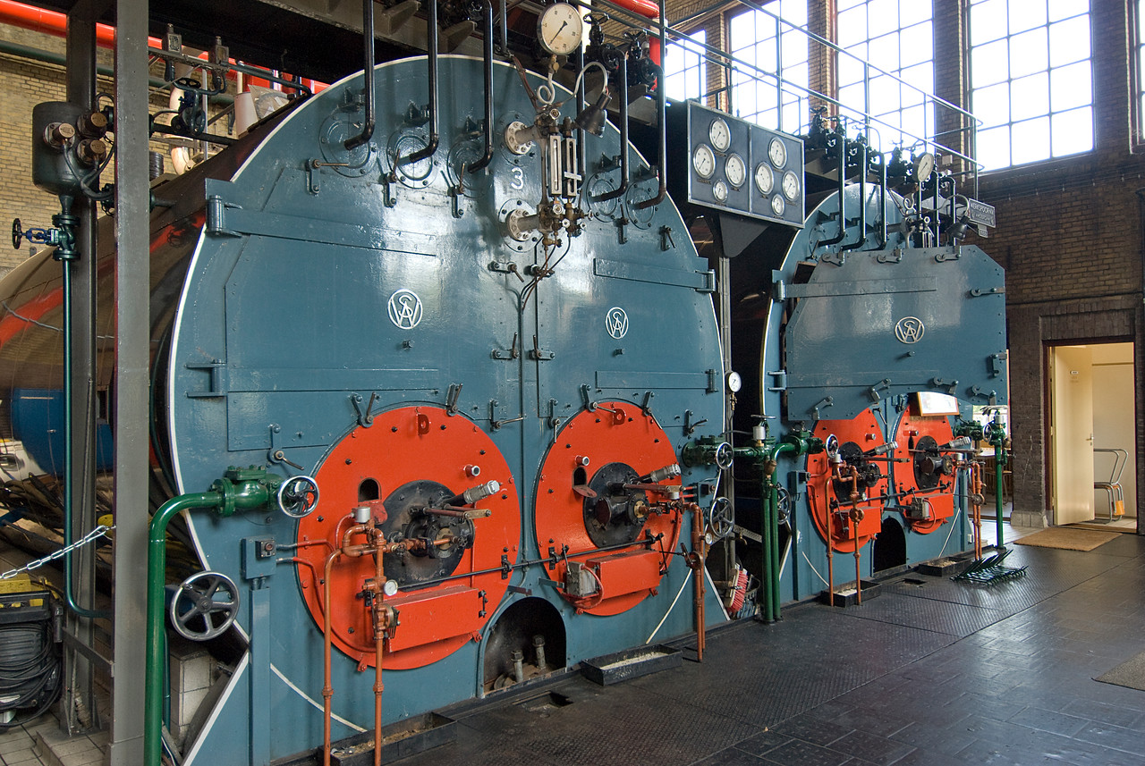 Details inside the Wouda Pumping Station in Netherlands