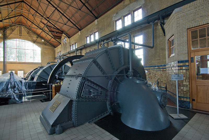 Inside the Wouda Pumping Station in Netherlands