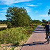 Cycling at the Zuid- Kennemerland National Park in the Netherlands