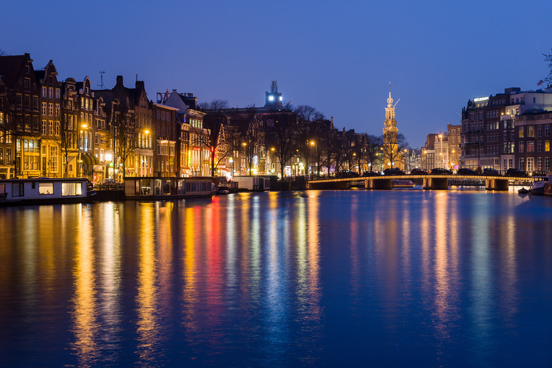 Amstel river view, Amsterdam