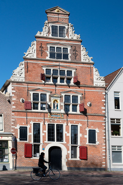 House on main square in Hoorn