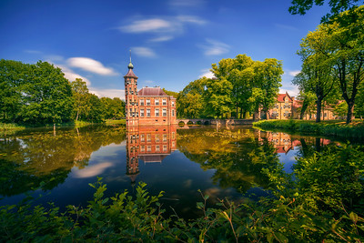 Castle Bouvigne and the surrounding park in Breda, Netherlands