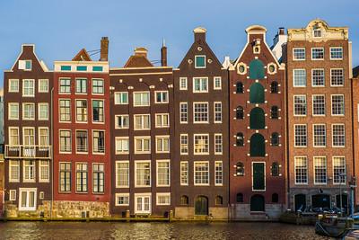 slightly wonky houses