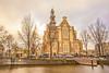 Westerkerk and Homomonument, Keizersgracht, Amsterdam, The Netherlands.