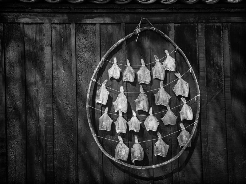 Drying fish