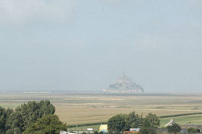 Mont St. Michel as seen from the War Cemetery